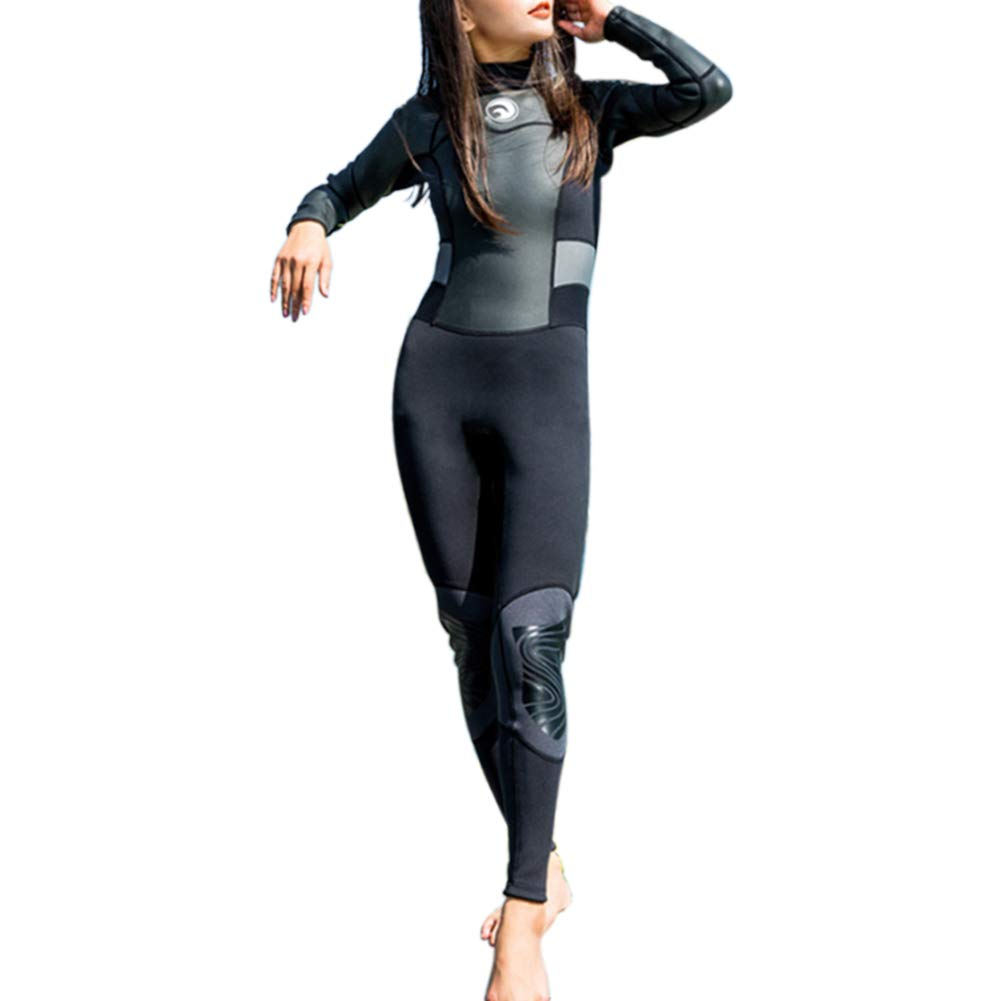 smallwoodi Wetsuit,Diving Suit,1.5mm Full Body Long Sleeve Snorkeling Surfing Warm Wetsuit Surf Clothing Winter Swimming Warm Jellyfish Clothing Travel Snorkeling Suit Swimwear L by smallwoodi