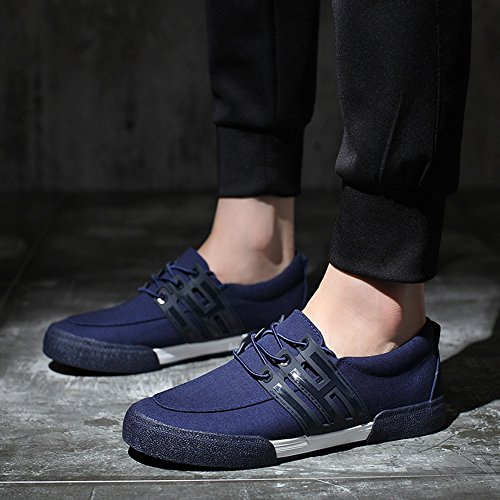 Casual Shoes Loafers Mens HUAN Color Canvas 44 Flat Size Academy Espadrilles Shoes Blue Deck Shoes tgIxq8x4