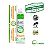 Vetoquinol Enzadent Enzymatic Toothpaste for Cats & Dogs – 3.2 oz, Poultry Flavor – Triple Enzyme Formula for Healthy Teeth & Gums – Oral Dental Care: Removes Plaque, Polishes Teeth & Freshens Breath
