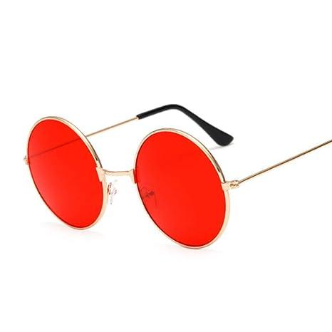 Yangjing-hl Gafas de Sol Redondas pequeñas y Retro Mujeres ...
