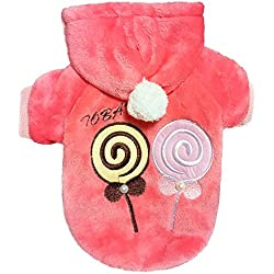 One Tail Four Paws Lollipop Ultra Soft Hoodie, Pink, X-Large