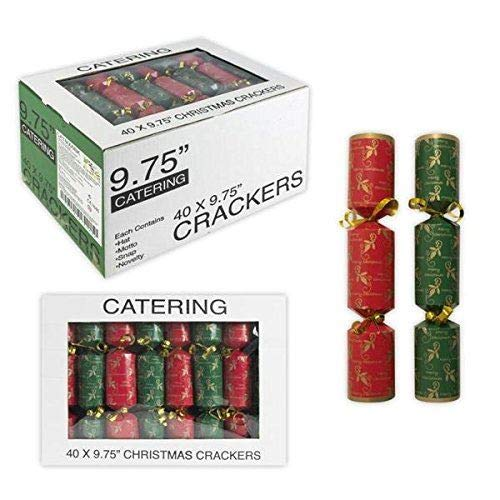 R&G Holly Catering Christmas Crackers 9.75inch x 40
