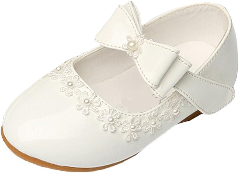 212a55c81b59a Bevalsa Bébé Fille Princesse Chaussures Ballerines Mary Jane Chaussures  Étudiants Chaussures en Cuir Chaussures de Danse