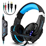Gaming Headset, Vivibel G9000 3.5mm Stereo Gaming Headphone for PS4, PC, Xbox One Controller, Wired Headset Earphone Headband with Microphone LED Light, Volume Control, Noise Canceling, Bass Surround Review