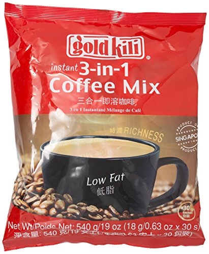 Gold Kili Rich Coffee Mix 3 in 1, 30 -Count 1 Instant Coffee Mix