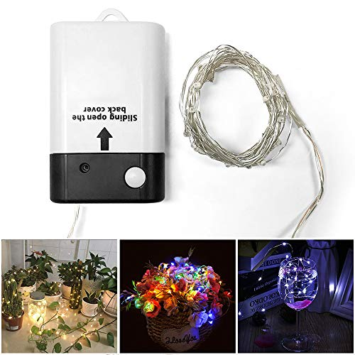 (Sumaote Fairy Lights Battery Operated String Lights for Bedroom Color Changing Lights USB Rechargable Blinking Led String Lights for Indoor Outdoor Wedding Christmas 16.4 ft 50)