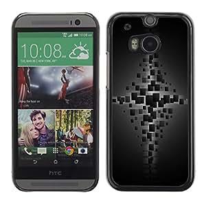 TopCaseStore / la caja del caucho duro de la cubierta de protección de la piel - Cubes - HTC One M8