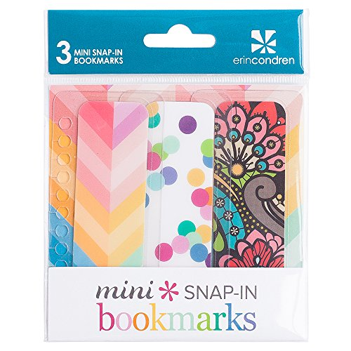 Erin Condren Mini Snap-In Bookmarks, Classic (ACC MBM - Erin Condren Life Planner Pages