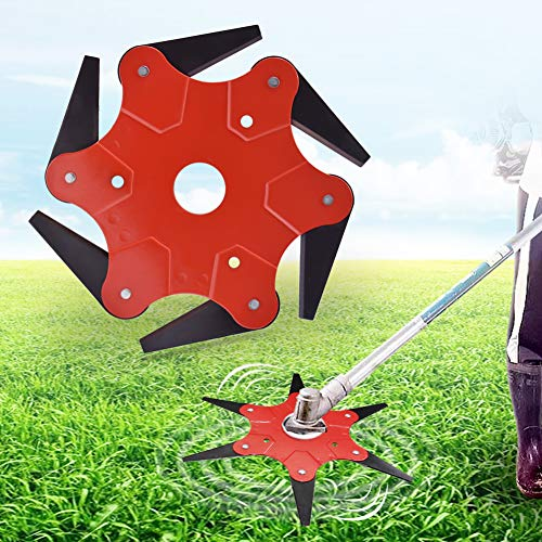 Trimmer Head 6 Steel Blades Razors 65Mn Lawn Mower Grass Weed Eater Brush Cutter Tool -