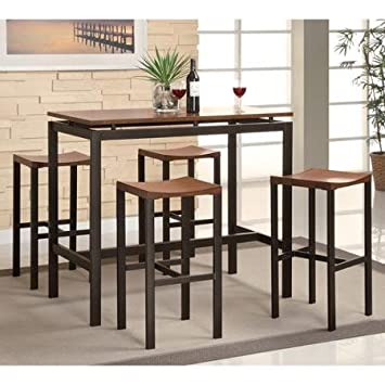 Coaster 5 Piece Counter Height Table And Chair Set Multiple Colors Espresso