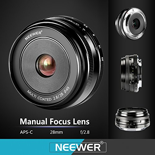 Neewer Manual Focus Prime Fixed Lens (28mm f/2 8) best
