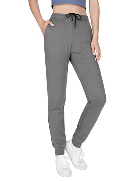 5 COLORS WOMENS CASUAL JOGGERS SWEATPANTS YOGA PANTS PLAIN SOLID FLEECE PANTS