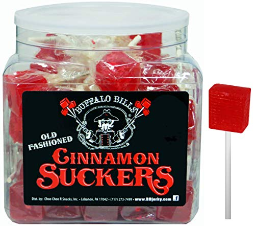 Buffalo Bills Old Fashioned Cinnamon Suckers (42 individually wrapped cinnamon lollipops per tub)
