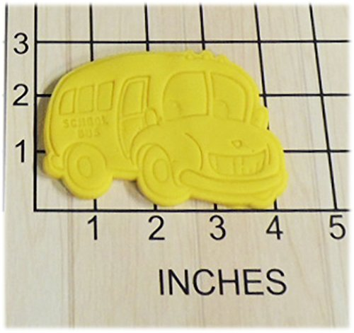 School Bus with Smiling Face Cookie Cutter and Stamp #1251