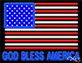 24x31x3 inches God Bless America NEON Advertising Window Sign