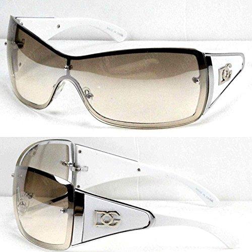 (DG Eyewear Womens Large Oversized Shield Wrap Sunglasses Designer Fashion Shades)