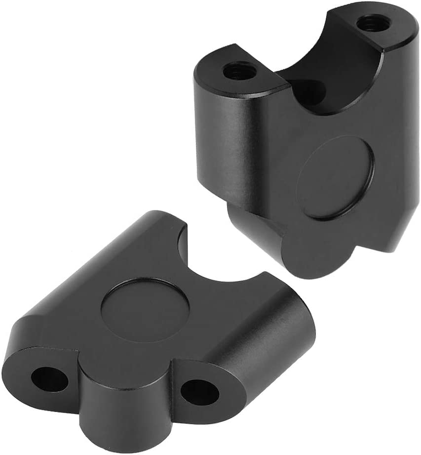 Yosoo Health Gear Riser de Guidon de Moto Universel Support de Serrage de Guidon de 22 mm Paquet de 2
