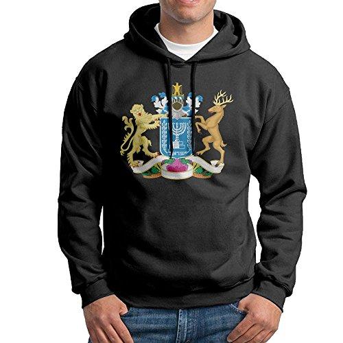 Israel National Costume For Men (EJPETMG Men Former Israel National Emblem Long Sleeves Sweatshirts Hoodies Sweater Costumes)