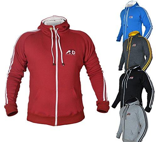 ARD CHAMPS Fleece Full Zip Hoodie Sweatshirt Top MMA Running Jogging S to 3xl – DiZiSports Store
