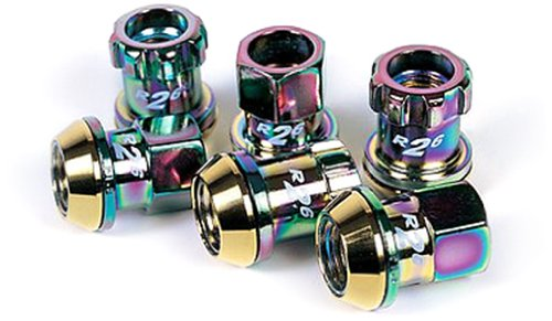 Kics 32876N R26 Neo Chrome (12mm x 1.5 Thread Size) Lug Nut and Lock, (Set of 20)