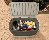 "Rubbermaid Outdoor Deck Box With Seat, Medium, 46"" L x 24"" W x 24"" H (FG5F2100OLVSS)"