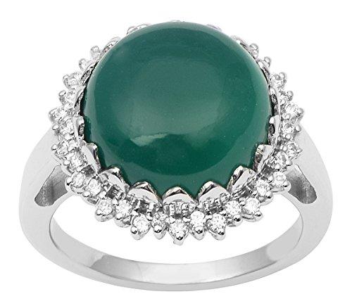 Banithani 925 argent sterling charme bague en onyx vert bijoux fantaisie indien