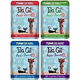 Tiki Cat Aloha Friends Grain Free Cat Food 4 Flavor Variety 8 Pouch Bundle: (2) Tuna Pumpkin Shrimp, (2) Tuna Pumpkin Tilapia, (2) Tuna Whitefish Pumpkin, (2) Tuna Pumpkin Calamari, 3 Oz Ea (8 Tot)