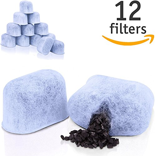 12-Pack HIGH QUALITY Charcoal Water Filters for Keurig Coffee Machines by GoodCups