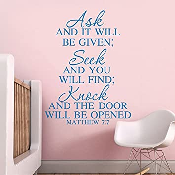 Vinyl Bible Wall Decal Christian Wall Quote Inspirational Wall Sticker