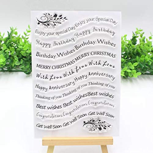 (1Piece Curved Birthday Words Clear Stamp Wave Border Metal Cutting Dies Stencils for DIY Card Making Album Scrapbooking Craft Die Embossing Paper Cut Autumn Harvestdies-Cutting Dies Cut Metal (2))