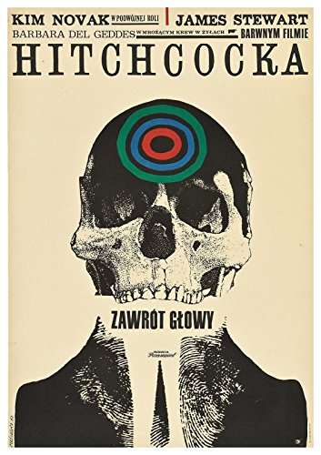 "Vertigo  Polish Movie Poster 24""x36"""