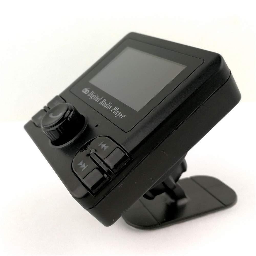 Darshion Bluetooth カーFMトランスミッター デジタルスクリーン ラジオ DAB オーディオアダプター レシーバー ワイヤレス ハンズフリー カーキット ハンズフリー通話 ポータブルデジタルラジオ ブロードキャスト USBカーチャージャー/ブラック   B07PVBCZWF