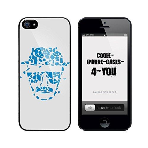 Iphone 5 / 5S Schutzhülle Walter Blue Crystal - schwarzer Rahmen