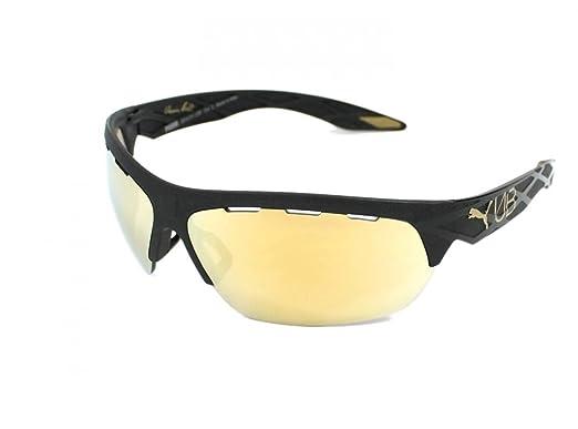 dca1f0404a Amazon.com  Puma 0001S 7 Black Gold 0001S Wrap Sunglasses Golf ...