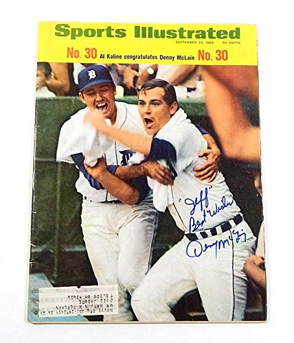 1968 Sports Illustrated Magazine Signed By Denny McLain Autograph Auto Autographed MLB Magazines