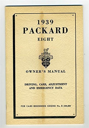 ORIGINAL 1939 Packard Eight Owner's Manual Service for sale  Delivered anywhere in USA