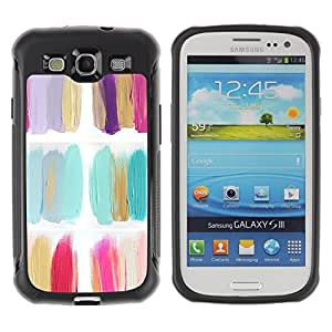 LASTONE PHONE CASE / Suave Silicona Caso Carcasa de Caucho Funda para Samsung Galaxy S3 I9300 / Polish Flowers Minimalist Oil Paint