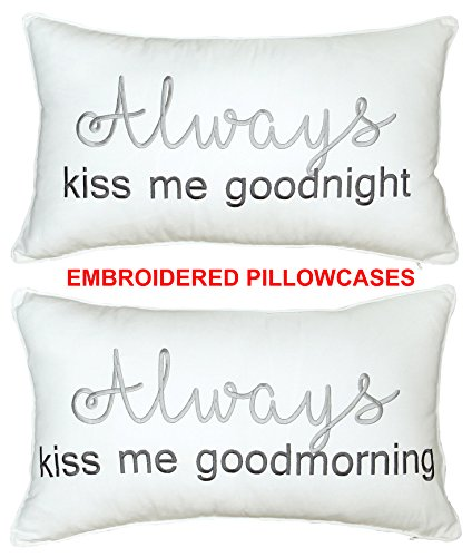 DecorHouzz Set of 2 pcs Always Kiss me Goodnight and Morning