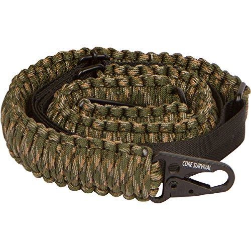 Core Survival Paracord Gun Sling Traditional 2 Point Adjustable Strap for Outdoor Sports (Army CAMO, 1.5