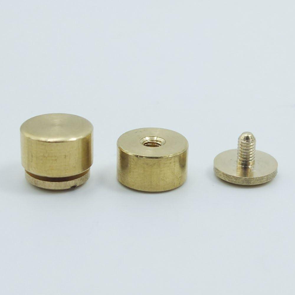 Head Screwback Feet 10mm 11mm 12mm Flat Purse Handbag NAILHEADS Stud Spike Spot