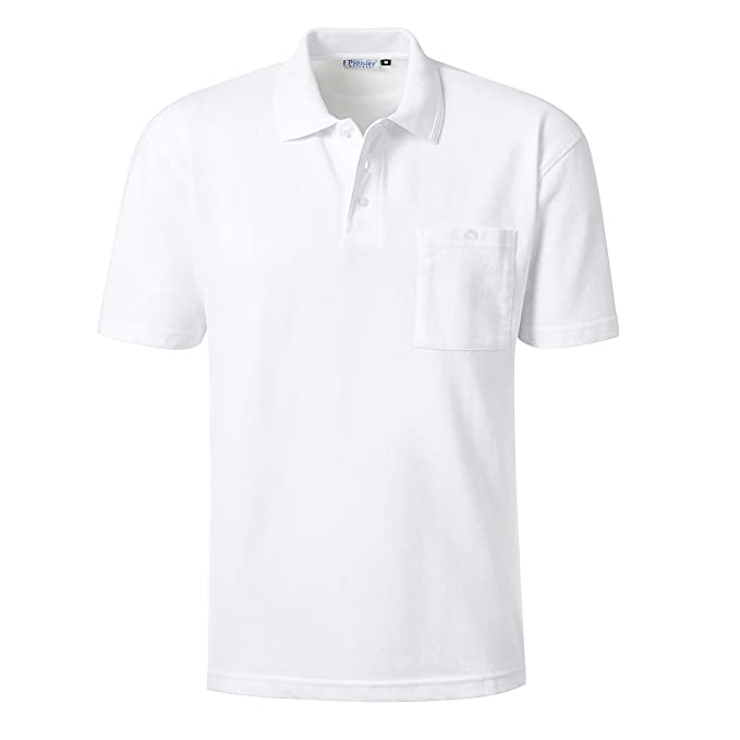Pionier Workwear XXL Polo piqué Blanco, 2xl-8xl:2XL: Amazon.es ...