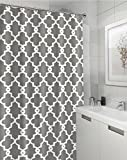 "Geometric Patterned Shower Curtain 72"" x 72"" - GREY"