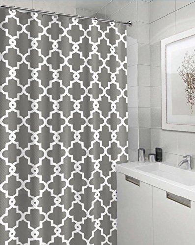 "Geometric Patterned Shower Curtain 72"" x"