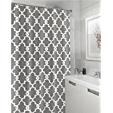 tan and gray shower curtain. Geometric Patterned Shower Curtain 72  x GREY Amazon com Grey Curtains Hooks