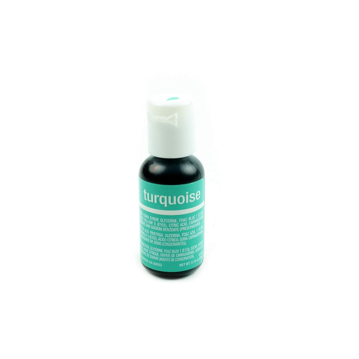 Chefmaster Liqua-Gel Food Color 0.70 Ounce - Turquoise