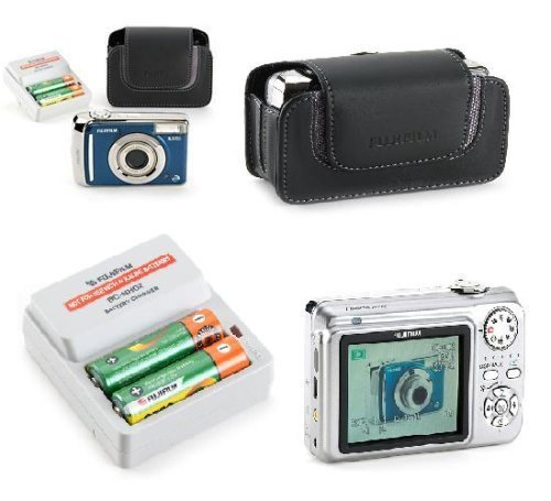 Fujifilm Finepix A805 Blue Camera Bundle (8.3 Mp Digital Camera, Leather Case, 2 Batteries, & (Charger Leather Case Lcd)