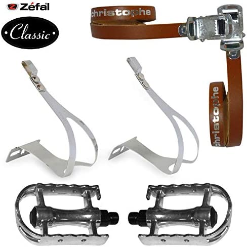 Zefal Classic Steel Toe Clips Bicycle Bike Pedals L//Xl