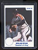 1985 Star Baseball's Strike Out K-King Nolan Ryan Houston Astros RARE Card - Mint Condition Ships in Brand New Holder