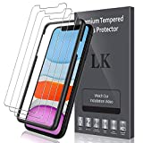 LK [3 Pack] Screen Protector for iPhone 11 and iPhone XR [Tempered Glass][Case Friendly] DoubleDefence - 6.1 inch
