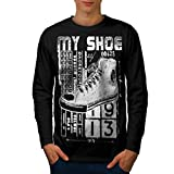 High Top Sneaker Shoe Men NEW S-2XL Long Sleeve T-shirt | Wellcoda